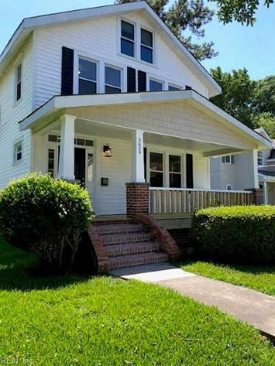 Norfolk Single Family Home New Listing: 3629 Montgomery St