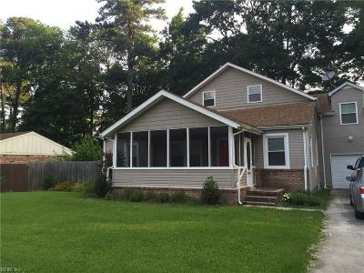 Portsmouth Single Family Home New Listing: 5802 Campbell St