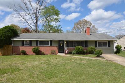 Virginia Beach Single Family Home New Listing: 3236 Florence St