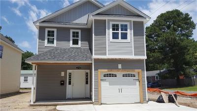 Norfolk Single Family Home New Listing: 2739 Lens Ave