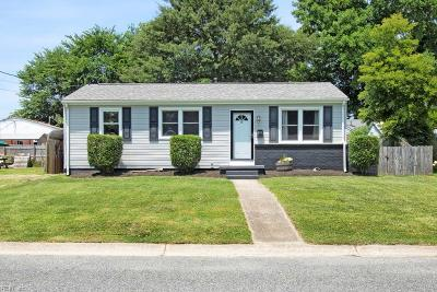 Chesapeake Single Family Home New Listing: 502 Stalham Rd