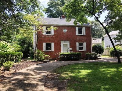 Norfolk Single Family Home New Listing: 226 S Blake Rd