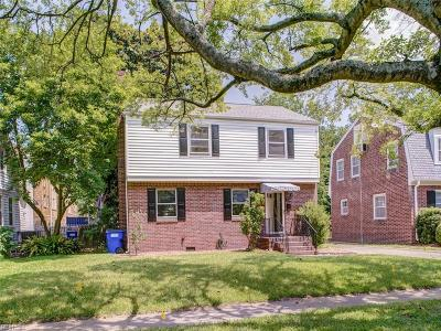 Norfolk Single Family Home New Listing: 1126 Larchmont Cres