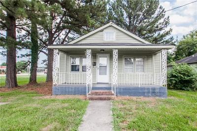 Chesapeake Single Family Home New Listing: 2016 Jefferson St