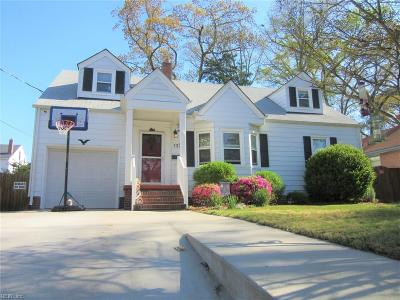 Norfolk Single Family Home New Listing: 132 Elwood Ave