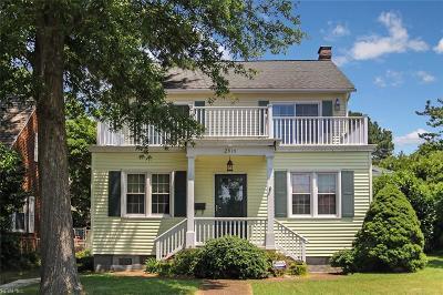 Hampton Single Family Home New Listing: 2919 Chesapeake Avenue