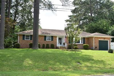 Chesapeake Single Family Home New Listing: 3137 Biscayne Dr