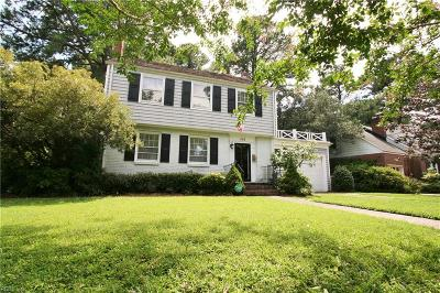 Norfolk Single Family Home New Listing: 503 Talbot Hall Rd