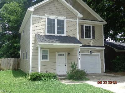 Chesapeake Single Family Home New Listing: 1728 Speedy Ave