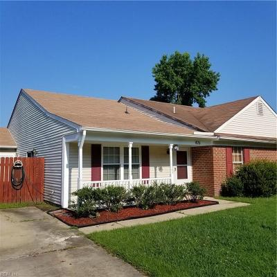 Chesapeake Single Family Home New Listing: 476 Cobblewood Bnd