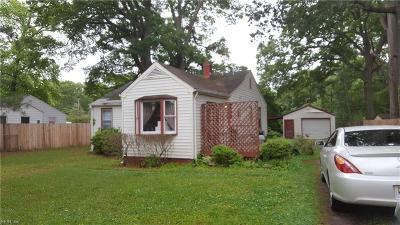Newport News Single Family Home New Listing: 710 Paul St