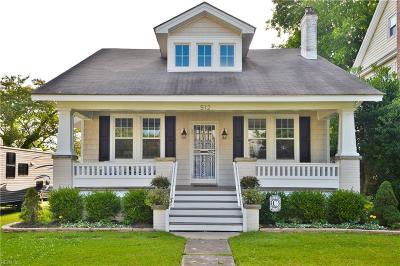 Portsmouth Single Family Home New Listing: 512 Shenandoah St