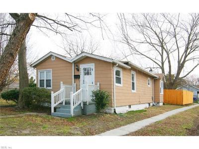 Norfolk Single Family Home New Listing: 9440 Phillip Ave