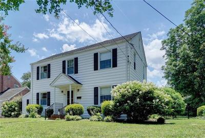 Norfolk Single Family Home New Listing: 403 Sinclair St