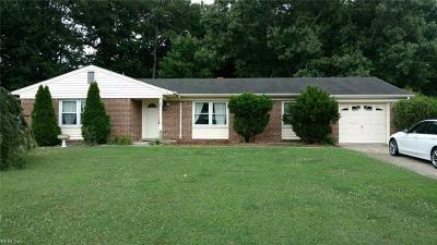 Virginia Beach Single Family Home New Listing: 926 Strickland Blvd