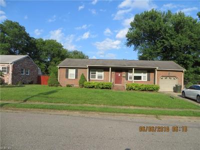 Newport News Single Family Home New Listing: 384 Nicewood Dr