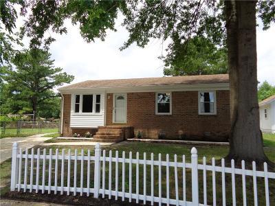 Chesapeake Single Family Home New Listing: 3900 Gilbert Ct