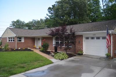 Virginia Beach Single Family Home New Listing: 2301 First Settlers Ave