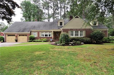Portsmouth Single Family Home For Sale: 3801 Pine Rd