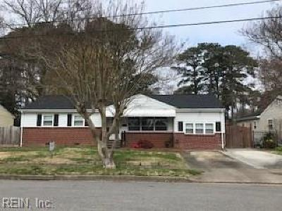 Norfolk Single Family Home For Sale: 1854 Tulane Rd