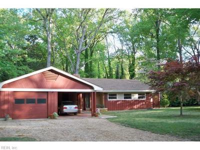 Newport News Single Family Home For Sale: 245 James River Dr