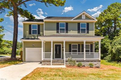 Norfolk Single Family Home For Sale: 1524 Saint Julian Ave