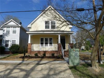 Norfolk Single Family Home For Sale: 3241 Lyons Ave