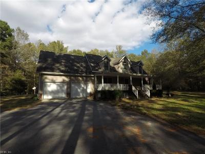 Suffolk Single Family Home New Listing: 7401 Corinth Chapel Rd