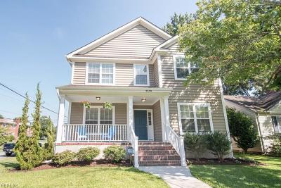 Norfolk Single Family Home For Sale: 9550 Sherwood Pl