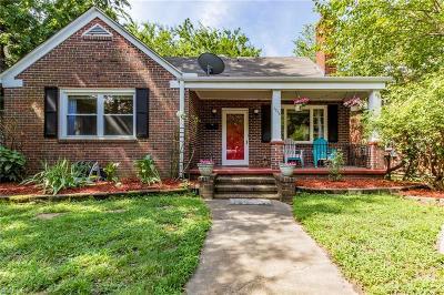 Norfolk Single Family Home New Listing: 1215 Redgate Ave