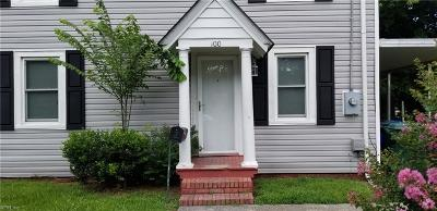 Suffolk Single Family Home New Listing: 100 N 4th St
