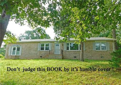 Western Branch Single Family Home For Sale: 4501 Airline Blvd