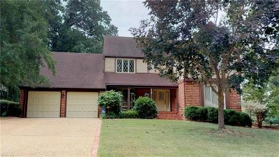 Newport News Single Family Home New Listing: 72 Waterview Dr