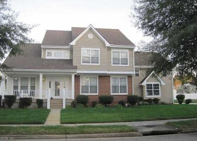 Virginia Beach Single Family Home New Listing: 2120 Whitley Abbey Dr