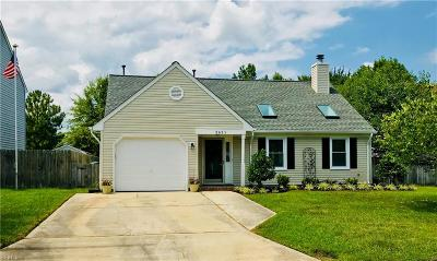 Virginia Beach Single Family Home New Listing: 2621 Gaines Mill Dr