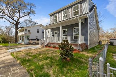 Norfolk Single Family Home New Listing: 1744 Pope Ave