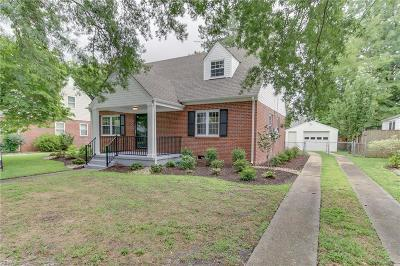 Norfolk Single Family Home New Listing: 1029 Manchester Ave