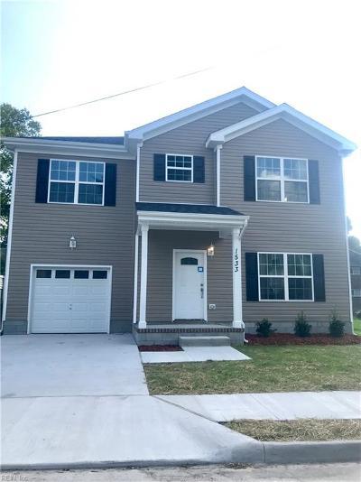 Norfolk Single Family Home New Listing: 1533 Manson St