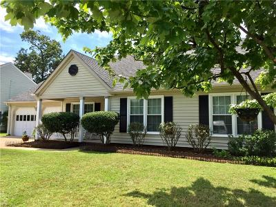 Virginia Beach Single Family Home New Listing: 3012 Red Maple Ln