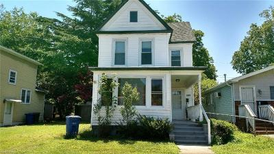 Newport News Single Family Home New Listing: 322 Blair Ave