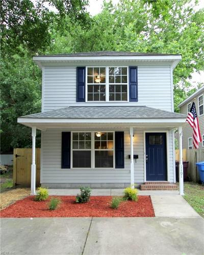 Chesapeake Single Family Home New Listing: 1101 Oldwood St