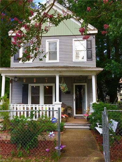 Norfolk Single Family Home New Listing: 3220 Dunkirk Ave