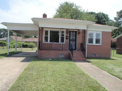 Portsmouth Single Family Home New Listing: 1423 Wool Ave