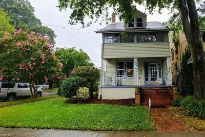 Norfolk Single Family Home New Listing: 4614 Colonial Ave