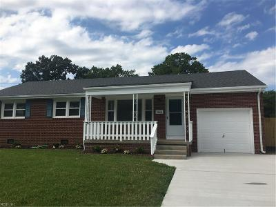 Virginia Beach Single Family Home New Listing: 5464 Sunnywood Dr