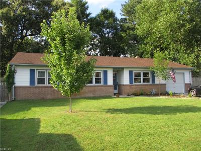 Virginia Beach Single Family Home New Listing: 3768 Historyland Dr