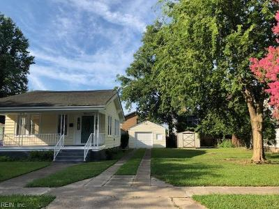 Norfolk Single Family Home New Listing: 1811 Farragut Ave
