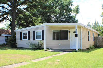 Chesapeake Single Family Home New Listing: 2502 Berkley Ave