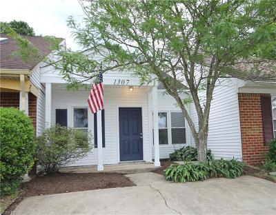 Virginia Beach Single Family Home Under Contract: 1307 Wellfleet Ct
