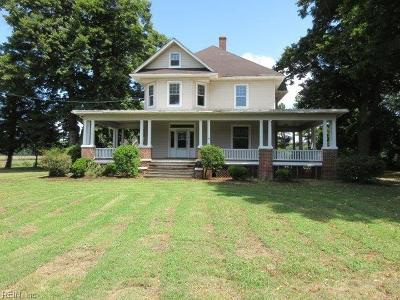 Northampton County Single Family Home Under Contract: 20545 Lankford Hwy